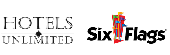 Six Flags Packages by Hotels Unlimited Logo